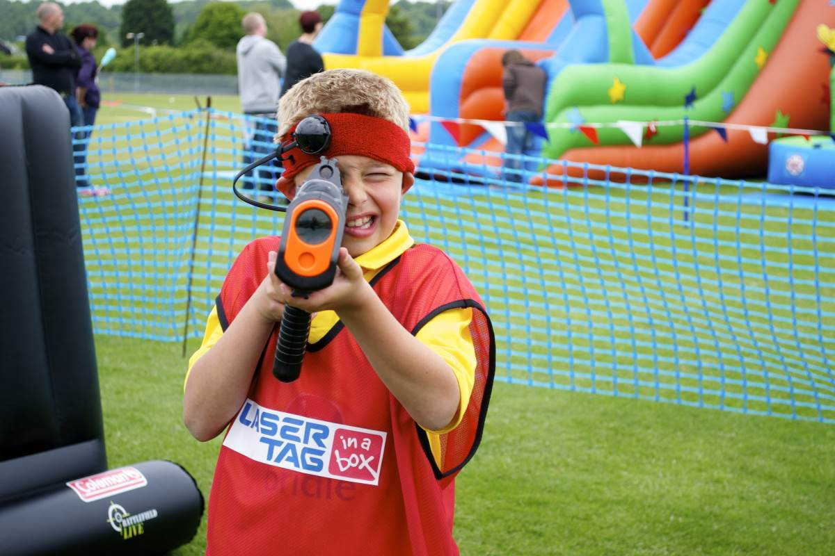 Hire Laser Tag In A Box for Fetes, Festivals and Fundraisers